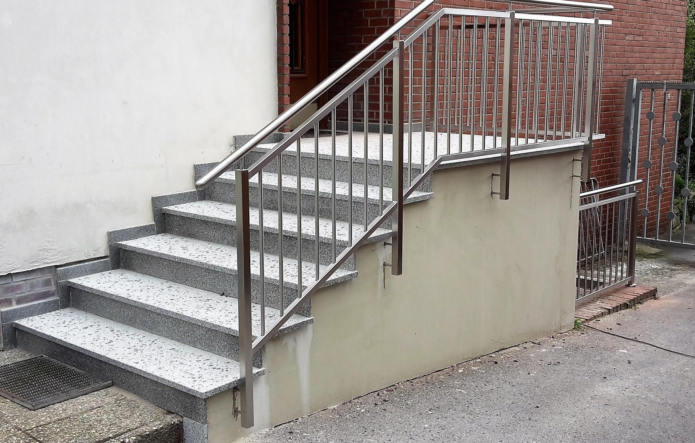 Edelstahl Treppengeländer nachher von Stefan Eibel aus Herten