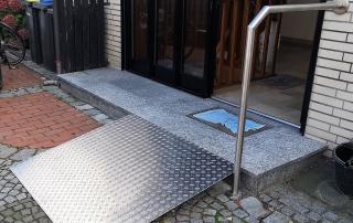 Edelstahl Rollstuhlrampe