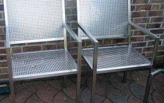Stühle Edelstahl