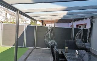 Terrassendach mit satiniertem Glas von Stefan Eibel aus Herten