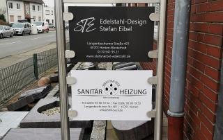 Edelstahl Werbetafel von Stefan Eibel aus Herten